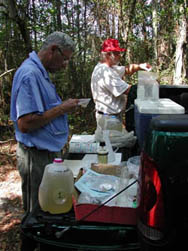 Processing of lake water samples